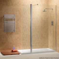 Walk-In with Rotating Deflector Panels with Easy-Clean Glass