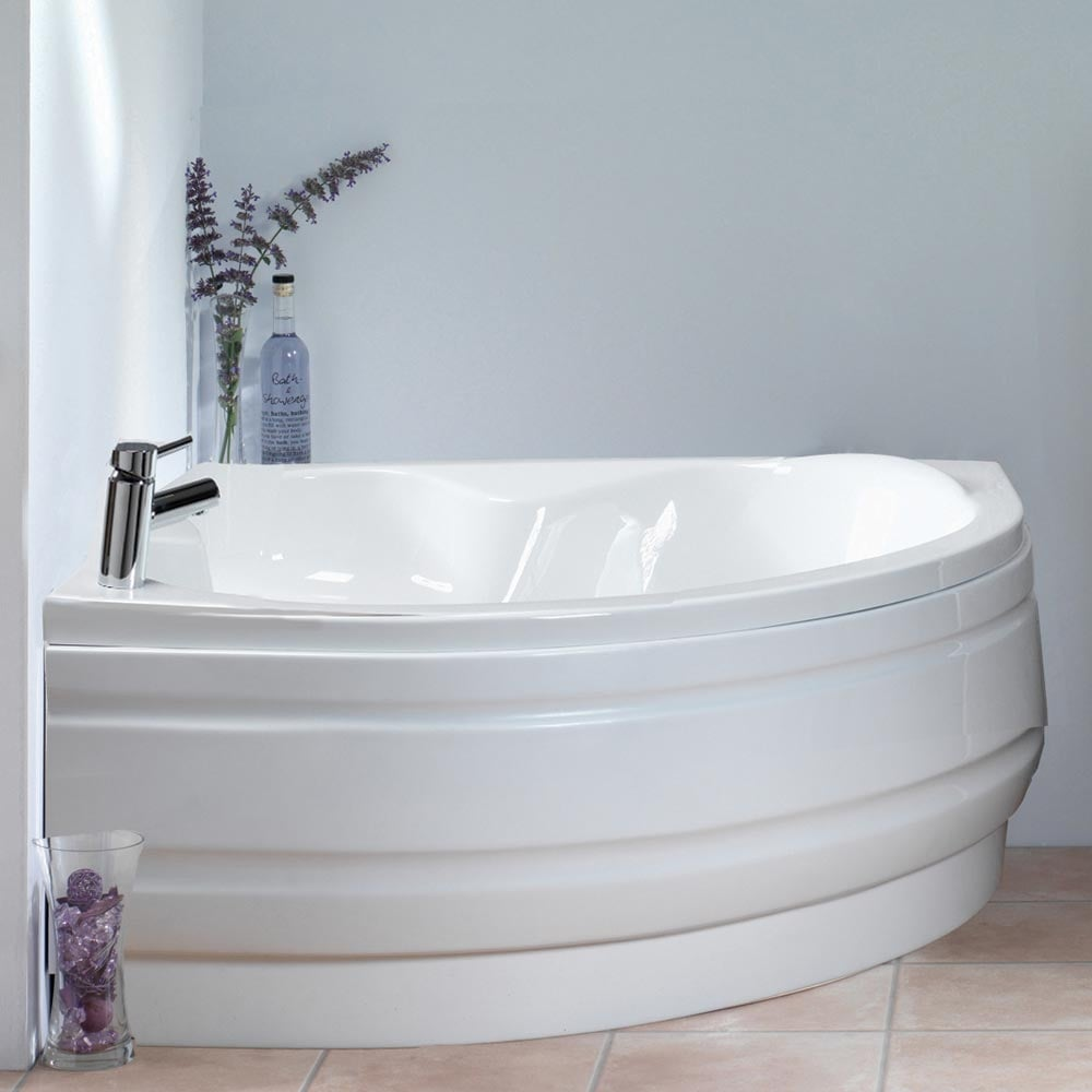 Ascent Superspec Idaho Corner Bath & Panel with Option 1 Whirlpool ...