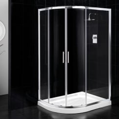 6mm 2 Door Offset Quadrant Enclosures with Easy-Clean Glass
