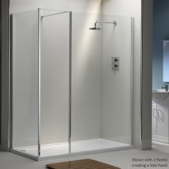 6mm Shower Wall with Easy-Clean Glass