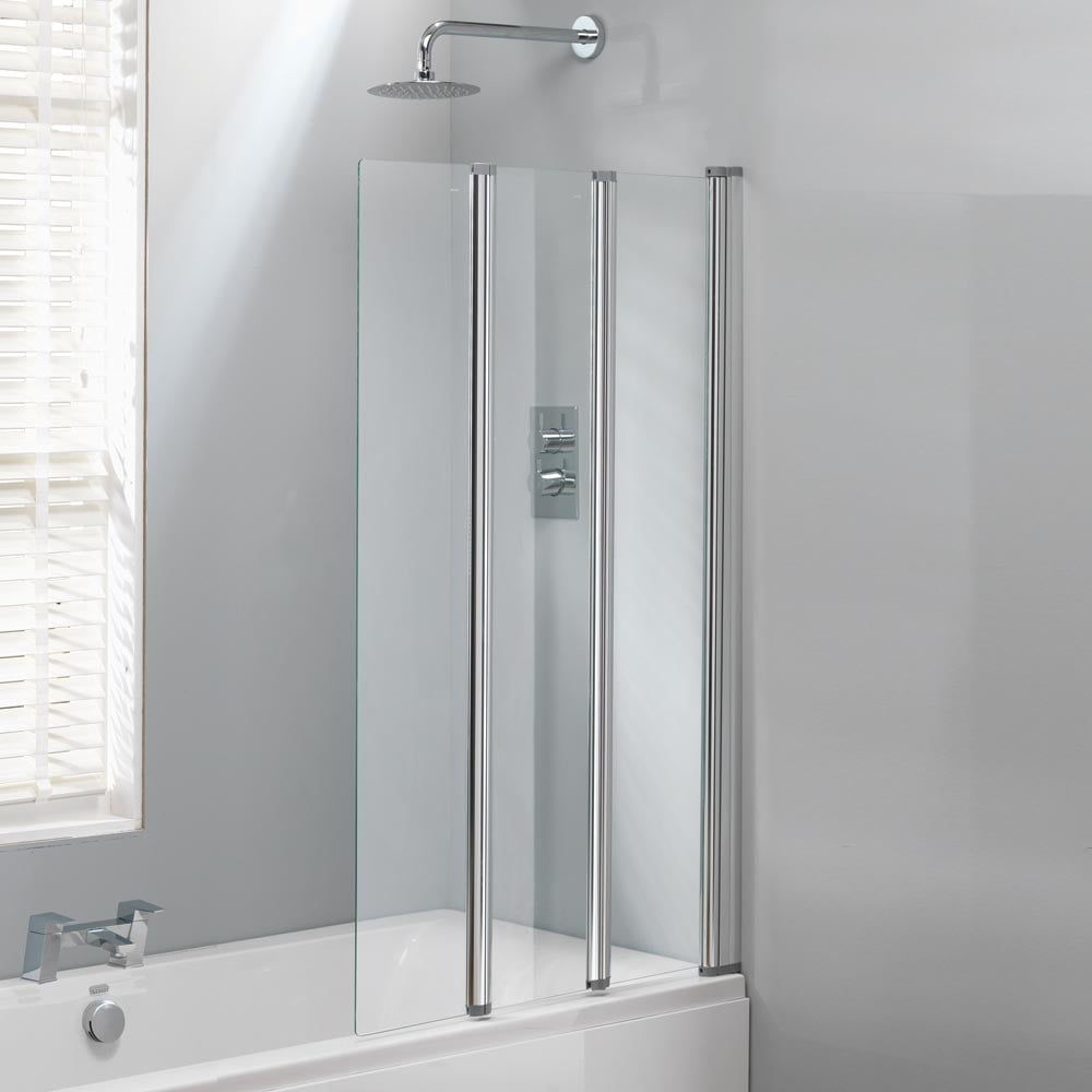 classic nouveau 3 fold bath screen 1400 x 860mm classic 3 fold bath screen 1400 x 860mm