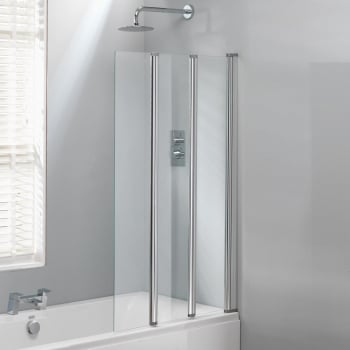 1400Mm Shower Bath classic nouveau 3-fold bath screen - 1400 x 860mm - classic nouveau