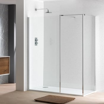 Classic Nouveau 6mm Shower Wall with Easy-Clean Glass - Classic ...