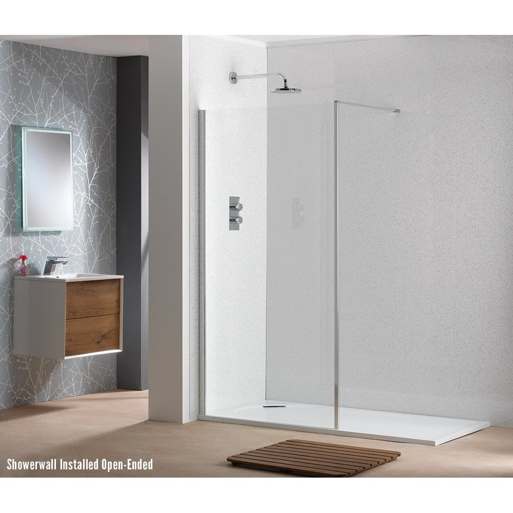 Easy clean bathroom -  6mm Shower Wall With Easy Clean Glass