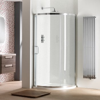 Classic Nouveau 6mm Single Door Quadrant Enclosure & Tray with Easy-Clean Glass