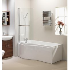 'P' Shaped Shower Bath, Screen & Panel Combinations