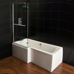'L' Shaped Shower Bath, Screen & Panel Combinations
