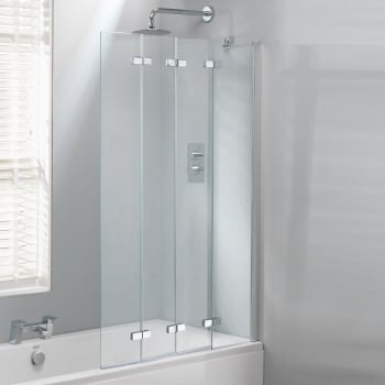 Genesis 4 Fold Bath Screen 1400 X 850mm Genesis From