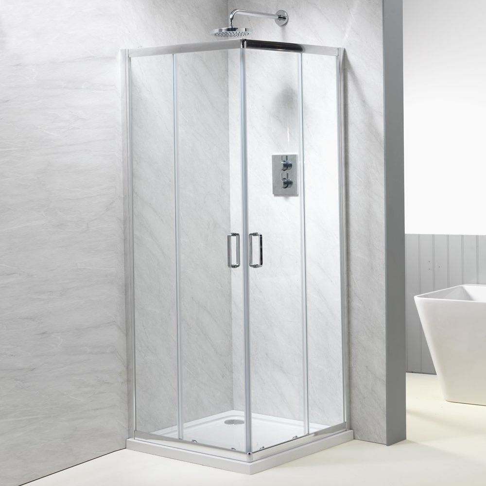 Genesis 6mm corner entry enclosures genesis from amazing for Non see through glass for bathrooms