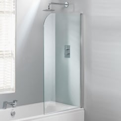 800 Curved Bath Screen - 1500 x 800mm