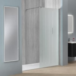 8mm Frosted Shower Wall with Easy-Clean Glass