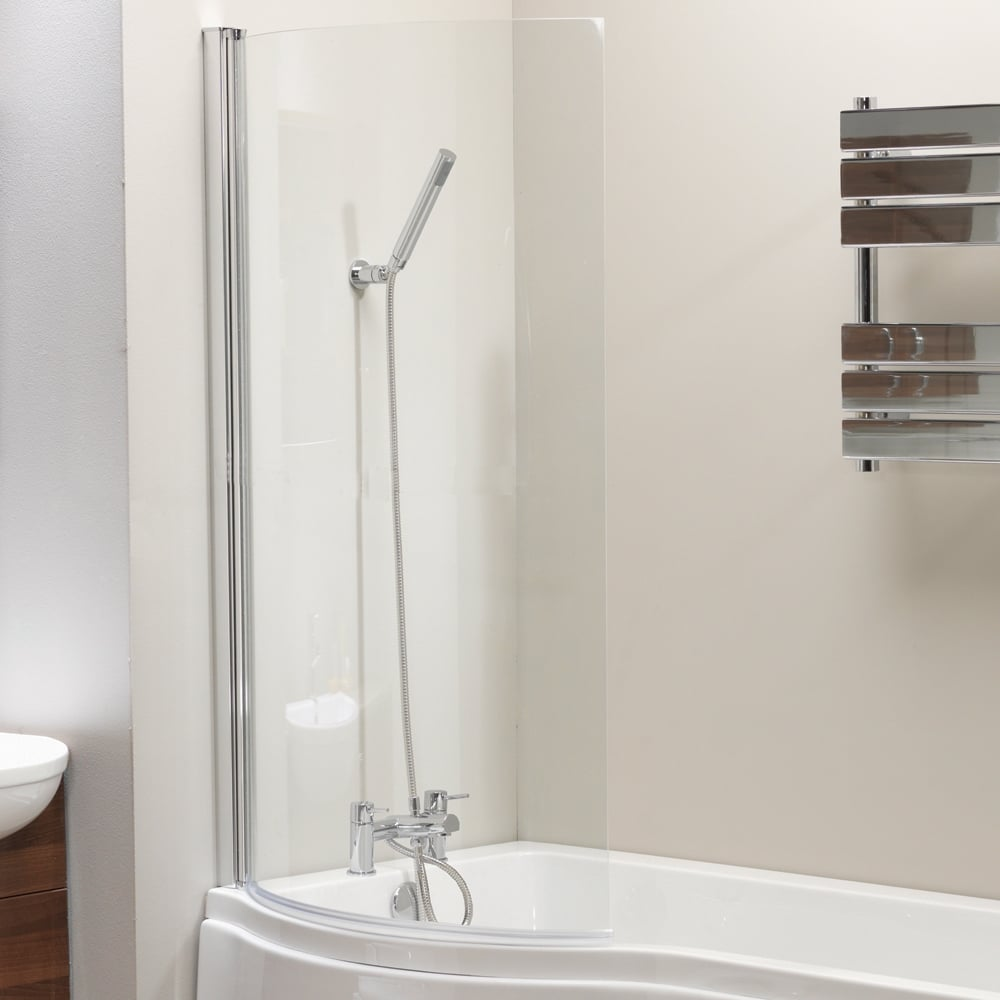 genesis california p shaped shower bath screen amp front galaxia 1700mm p shaped shower bath with screen amp panel