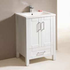 Deco 600mm 2-Door, 1-Drawer Base Unit and Basin
