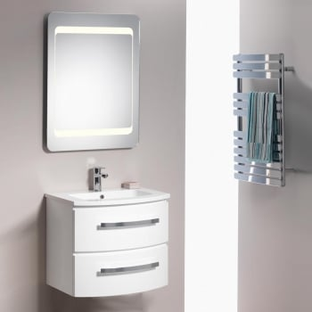 Genesis Deluxe Opal 600mm Wall-Hung Base Unit & Basin