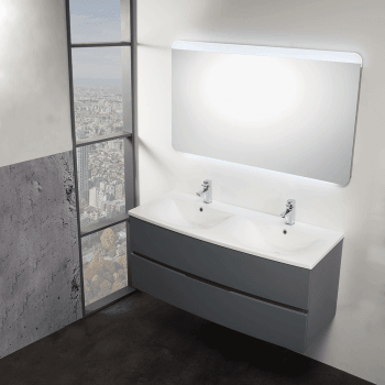 Genesis Deluxe Oregon 1200mm Wall-Hung Base Unit & Double Basin