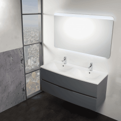 Oregon 1200mm Wall-Hung Base Unit & Double Basin