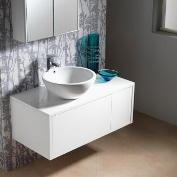 Genesis Deluxe Vermont 1000mm Wall-Hung Base Unit & Basin