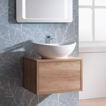 Genesis Deluxe Vermont 600mm Wall-Hung Base Unit & Basin