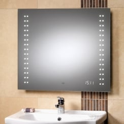 Discovery Mirror with LED Lights & Clock - 700 x 600mm