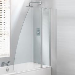 Double Sail Bath Screen - 1500 x 1200mm