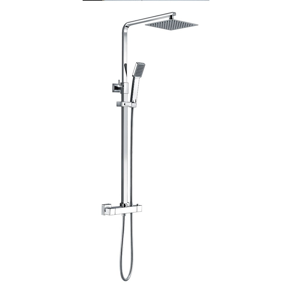 Genesis Ebony Square Thermostatic Bar Valve Shower Kit Genesis From A
