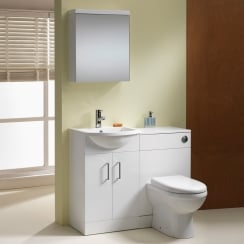 Eden 1000mm Base Unit & WC Unit Combination - 350mm Depth