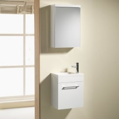 Eden 400mm Wall Hung Base Unit & Basin