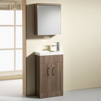 Genesis Eden 500 & 600mm Slimline Base Units & Basins - 250mm Depth (can also be used with WC Unit)