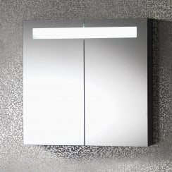 Gemini 600mm 2-Door Mirrored Cabinet with Integrated Lights