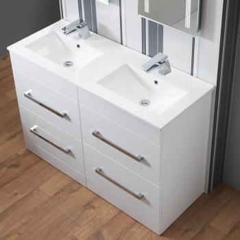 Genesis Monica 1200mm Base Unit & Double Basin