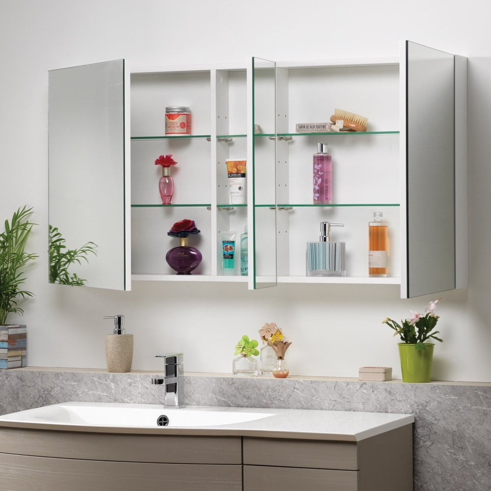 Genesis options mirrored cabinets 400mm to 1200mm for Bathroom cabinets 1200mm wide
