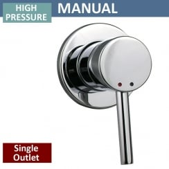 Round Manual Shower Valve - 1 Outlet (controls 1 function)