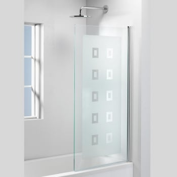 Genesis Square Frosted Bath Screen - 1500 x 800mm
