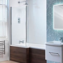 Vermont Reversible Shower Bath Screen Only