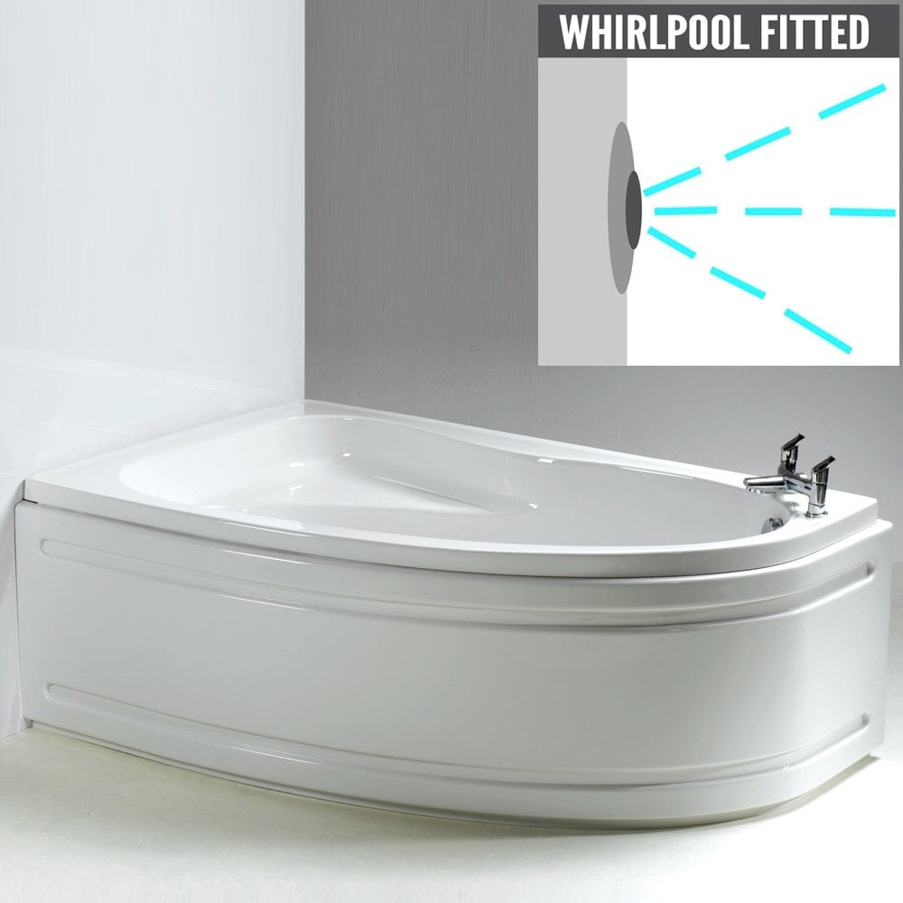 Caribbean Corner Bath and Panel with Option 3 Whirlpool - from ...