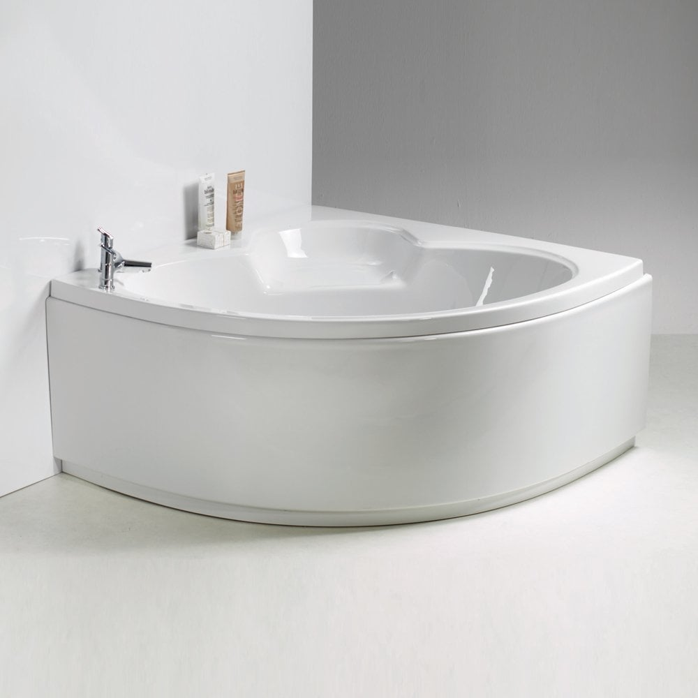 Casper corner bath and panel 1200 x 1200mm from for Bath 1200