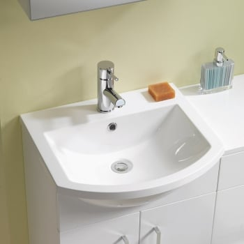 Q-Line Curved Resin Basin*