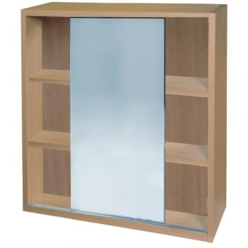 Q-Line Sliding Mirrored Wall Cabinet