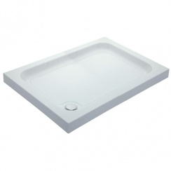 80mm Universal Cast Stone Rectangular Shower Trays