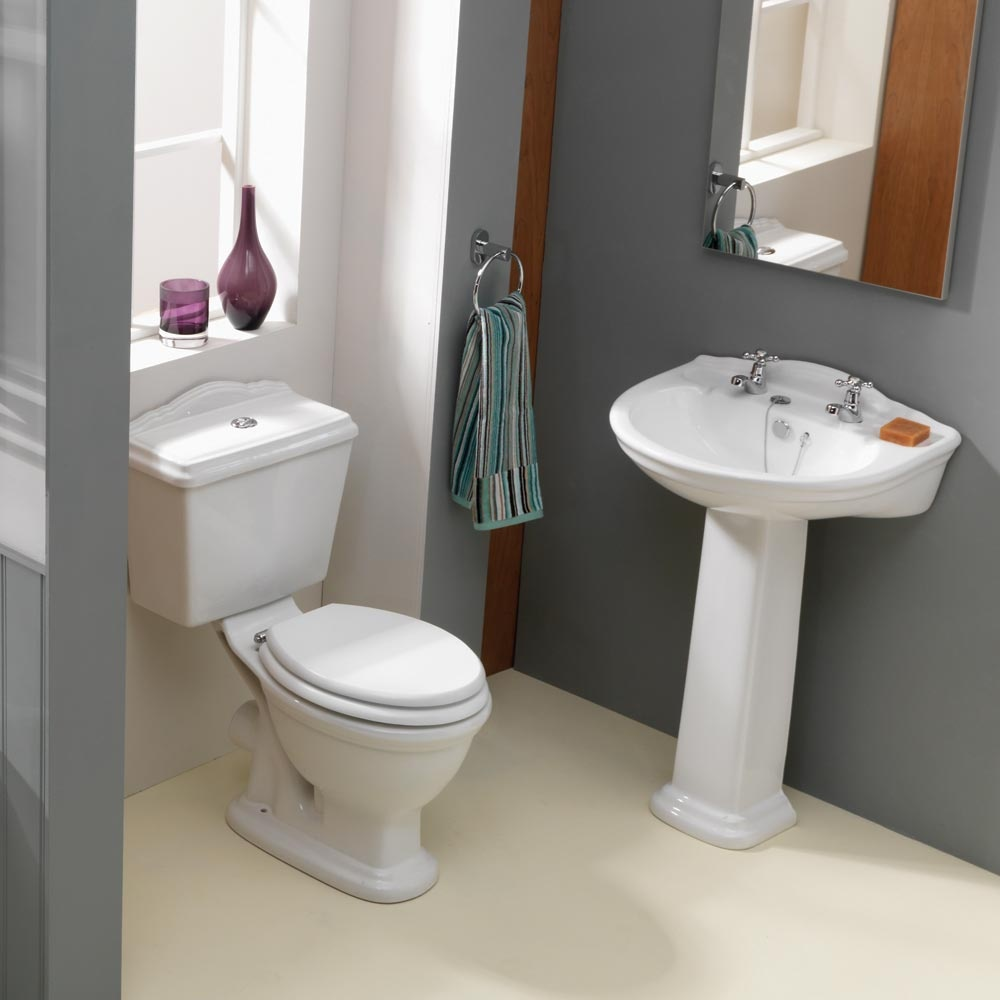 Qx cottage 4 piece set qx from amazing bathroom supplies uk for Bathroom 4 piece set