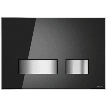 QX Movi Mechanical Flush Plate - Black Glass