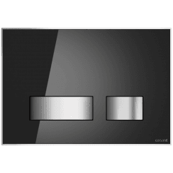Movi Mechanical Flush Plate - Black Glass