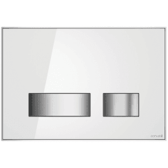 Movi Mechanical Flush Plate - White Glass