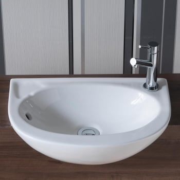 QX Opal Slim 450 x 305mm Semi-Recessed Basin