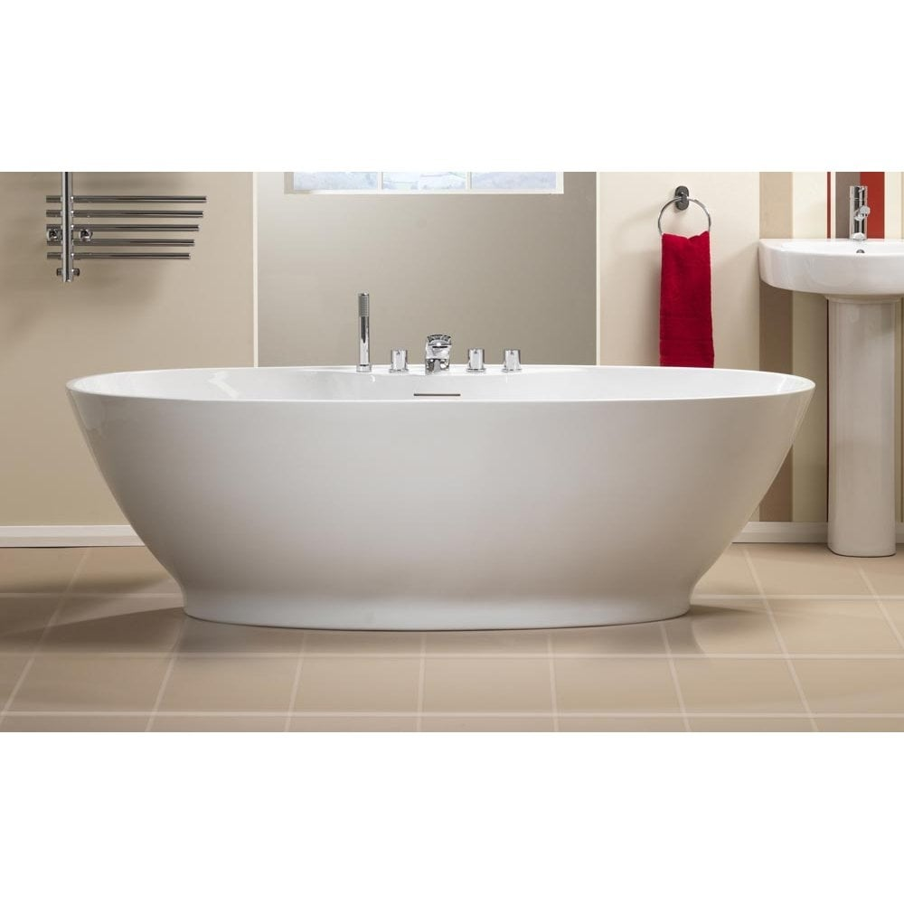 QX Oregon Freestanding Bath with Option 4 Whisper Airspa - 1850 x ...