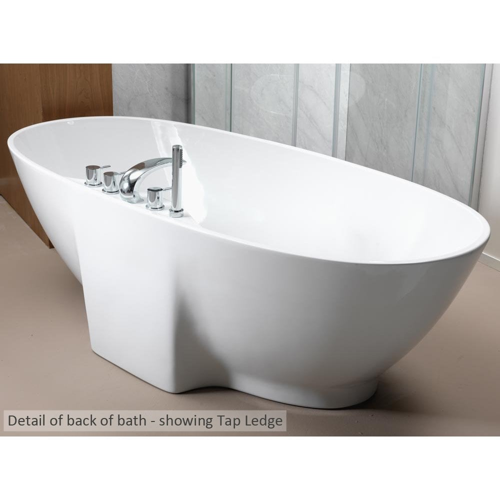 ... Oregon Freestanding Bath with Option 4 Whisper Airspa - 1850 x 850mm ...