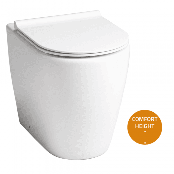 QX Roma Rimless Comfort Back-to-Wall Pan & Soft Close Seat