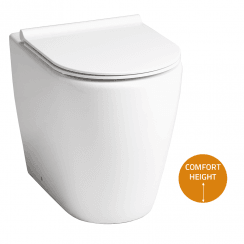 Roma Rimless Comfort Back-to-Wall Pan & Soft Close Seat