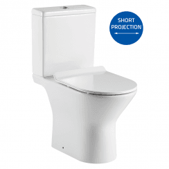 Venice Rimless Open Sided WC including Soft Close Seat