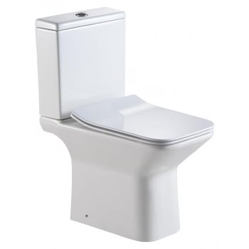 QX Verona Rimless Open Sided WC including Soft Close Seat
